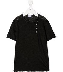 violeta e federico linen short sleeve t-shirt - black
