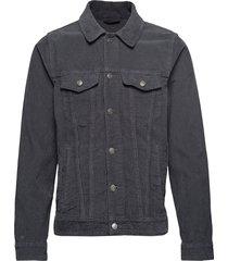 corduroy trucker jacket jeansjacka denimjacka grå abercrombie & fitch