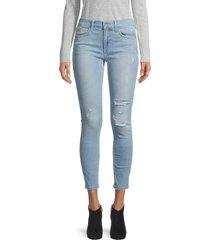joe's jeans women's mid-rise ripped skinny ankle jeans - monarch - size 29 (6-8)