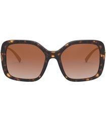 versace 53mm polarized square sunglasses in havana/brown gradient at nordstrom