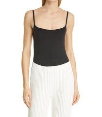 simon miller ano square neck bodysuit, size x-small in black at nordstrom