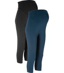 leggings capri prémaman (pacco da 2) (nero) - bpc bonprix collection