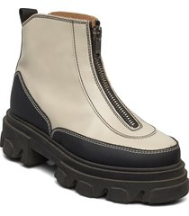 zipper boot shoes boots ankle boots ankle boot - flat ganni