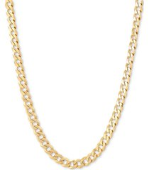 """flat curb link 22"""" chain necklace in 18k gold-plated sterling silver"""