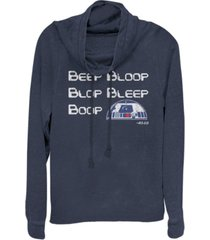 fifth sun star wars bleep bloop blop bleep boop r2-d2 cowl neck sweater