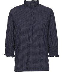 margit blouse lange mouwen blauw baum und pferdgarten