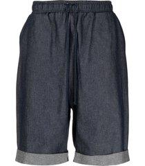 alchemy drop-crotch drawstring shorts - blue