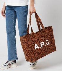 a.p.c. women's diane tote bag - caramel