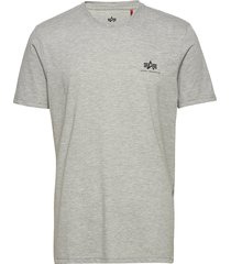 basic t small logo t-shirts short-sleeved grå alpha industries