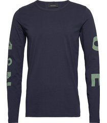 m karta ls tee t-shirts long-sleeved blå peak performance