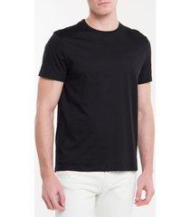 camiseta masculina básica logo bordado liquid cotton preta calvin klein - p