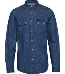 lee rider shirt overhemd casual blauw lee jeans