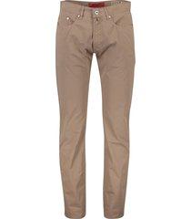 pierre cardin lyon broek 5-pocket bruin