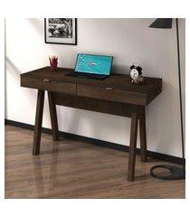 mesa para escritório 75,5x120x45  2 gavetas me4128 rustico - tecno mobili