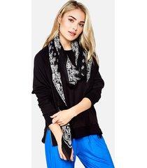 ezra crop pullover - l black