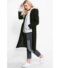 getailleerde jas, zwart
