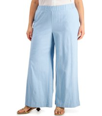 alfani plus size wide-leg ankle pants, created for macy's