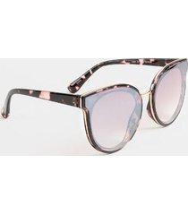 lilia mirror cat eye sunglasses - rose/gold