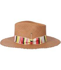 sonora desert brown fedora straw hat