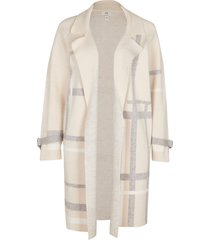 river island womens petite beige check duster jacket