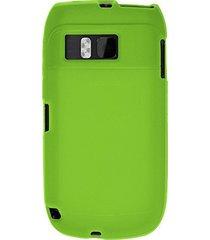 amzer silicone skin jelly case for nokia e6-00 - green