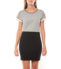 korte jurk vero moda bora ss mini dress 98259 gris/noir