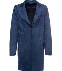 cappotto in similpelle scamosciata (blu) - bodyflirt