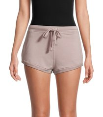 free people movement women's where the wind blows stretch shorts - cashmere - size l