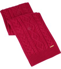 women's michael kors diamond cable muffler scarf, size one size - red