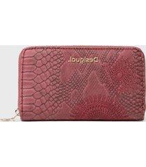 billetera mini zip rojo desigual