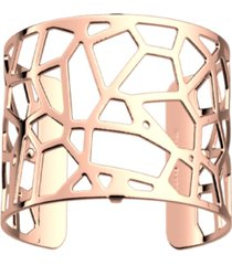 les georgettes by altesse exotic spot openwork wide adjustable cuff girafe bracelet, 40mm, 1.6in