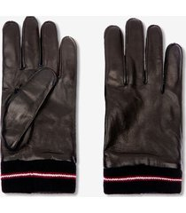 leather gloves black 44