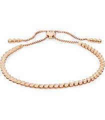14k rose gold & white diamond bracelet