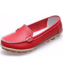 loafers mocassini casual con solleta morbida a slip-on in colore a tinta unita