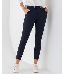 pantalón skinny con botones