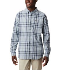 columbia men's big & tall vapor ridge iii modern classic-fit plaid shirt