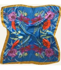 pañuelo azul nuevas historias par de flores ba1396-35