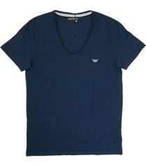 emporio armani t-shirt v-hals blauw