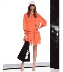 sukienka vanessa orange fluo