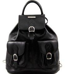 tuscany leather tl9035 tokyo - zaino in pelle nero
