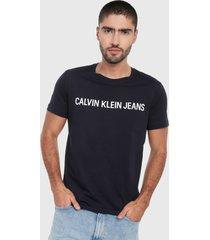 camiseta azul oscuro-blanco calvin klein
