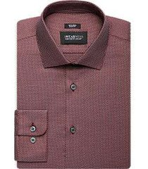 awearness kenneth cole burgundy dot slim fit dress shirt