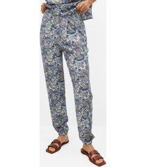 mango women's paisley print pants