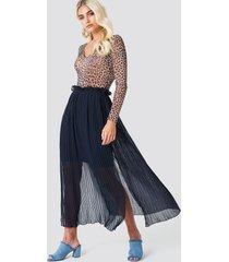 rut&circle pleated frill skirt - blue