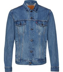 the trucker jacket multicolor jeansjacka denimjacka blå levi´s men