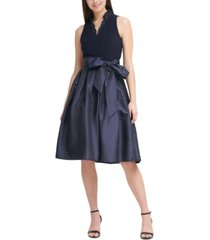 jessica howard ruffle-neck fit & flare party dress