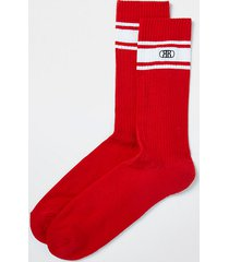 river island mens red rr stripe socks