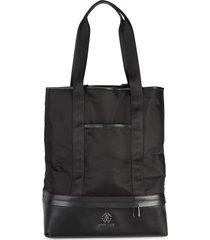 roberto cavalli men's textile tote bag - black