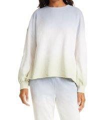 women's rails reeves dip dye sweatshirt, size x-large - blue