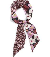 women's kate spade new york poppy fields reversible silk skinny scarf